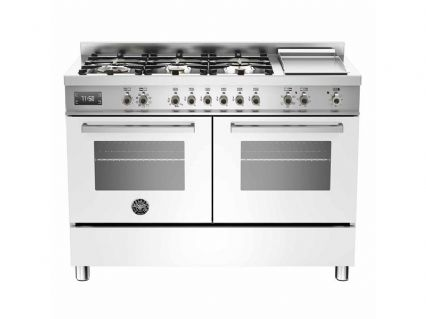 120cm Bertazzoni Professional PRO120-6G-MFE-D-BIT  in White with 6 burners